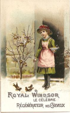 Victorian Girl Feeding Birds Royal Windsor