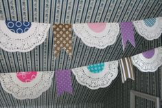Doily garland/bunting