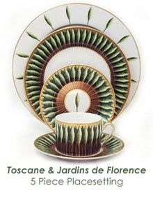 Dinnerware Depot - Dinnerware Sets, Fine China, Dishes, Tableware and Free Shipping! - Philippe Deshoulieres Toscane & Jardins de Florence Dinnerware