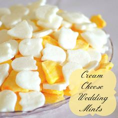 Cream Cheese Wedding Mints