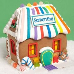 Personalised gingerbread house! Cute!