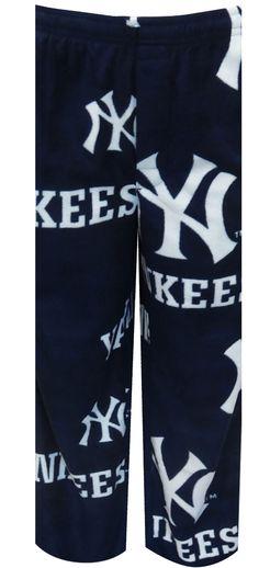 WebUndies.com New York Yankees Guys Navy Fleece Lounge Pants