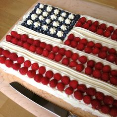 Flag Cake- a Fourth of July tradition!