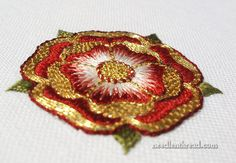 Goldwork Embroidery Tudor-Style Rose | Flickr - Photo Sharing!