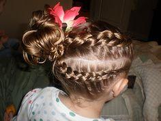 french braids, little girls, idea, braid side, girls hairdos
