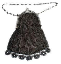 Victorian Sterling Silver Acorn Design Open Mesh Antique Purse 1880'S | eBay