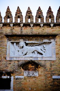 The Lion of St. Mark - the symbol of the city of Venice, Italy