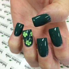 color, nail designs, nail art designs, nail arts, st patricks day, lime, forest, clover, green nails