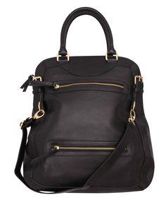 RACHAEL RUDDICK bay street messenger   SHOP NOW > http://www.threadbare.co/collections/designers-accessories/products/bay-street-messenger #rachaelruddick #bag #black #tote #shoulderbag #leather