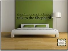 Dont count sheeptalk to the shepard  23w x 4.4h C022 by Zindee, $16.95
