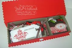 Box of gift tags as a hostess gift. I love it!