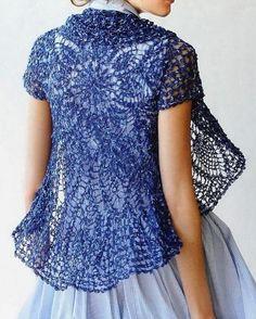 Free Crochet Sweater Patterns   Elegant Crochet Sweaters: Crochet Lace Cardigan