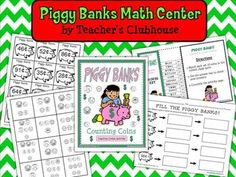 Here's a learning center activity for students to practice counting coins.