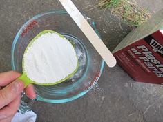 Mix 1/2 cup of Plaster of Paris into a 1/2 cup of warm mater to dissolve.