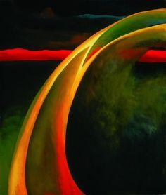 """O'Keeffe, """"Red and Orange Streak"""""""