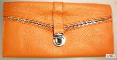 bright sunflower orange leather womans handmade ceo by G2Pleather, $27.99