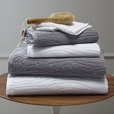 Organic Woodgrain Towels