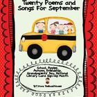 Freebie: 20 poems/songs to use in September/Fall with your primary students. classroom, idea, literaci, poemssong, free poem, grade, poetri, freebi, kindergarten