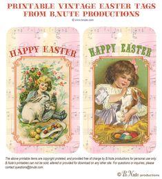 Vintage Easter Tags free/printable