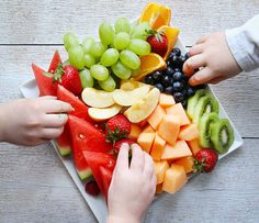 Fresh Fruit Platter!  (How a busy mom can do it easy and cheap!)  Pin now and make later!