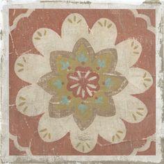 rustic tile, print