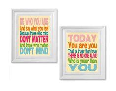 Dr Seuss quote prints