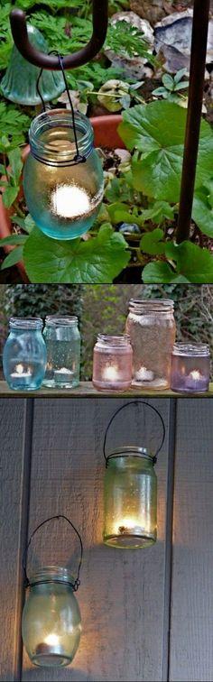 DIY Garden Candle Holders Of Jars