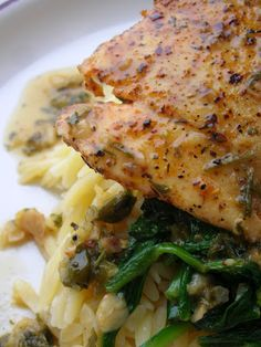Pan Sauteed Halibut with Lemon Caper Sauce (omit butter and add coconut oil if doing die-hard paleo)