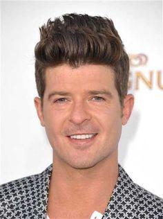 Robin Thicke has some seriously thick hair...
