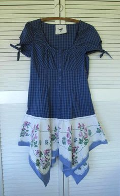 Bohemian dress Eco upcycled clothing by lillienoradrygoods on Etsy,