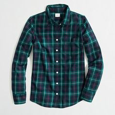 JCrew Factory classic button-down shirt in flannel