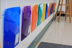 Student homework folders