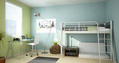 teen room loft bed