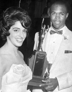 Ellen Goldstein, 18, and Gale Sayers, 18, were named Queen and King of Sports at Central High School's annual O Club at Peony Park on June 2, 1961. THE WORLD-HERALD