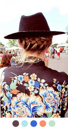 chic braid and hat