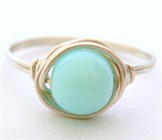 blue peruvian opal, simple pretty