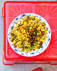 Butter-Braised Corn with Dried Shrimp #summer #bbq