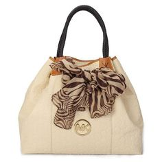 Michael Kors Scarf Jacquard Large White Shoulder Bags, Michael Kors Handbags, Michael Kors Outlet Now: $64.99 saw this bag... Love, love it!!