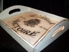 Shabby Chic serving tray by BoutiqueClaire on Etsy, $27.00