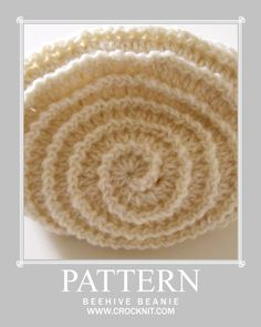 Free Crochet Hat Spiral Pattern. Here is a beautiful easy pattern with texture…  the spiraling texture of this pattern has been around for a while … and I just ♥ the way it reminds me of a beehive or seashell. Just click on any of the images at the site and instant pdf!  ¯\_(ツ)_/¯