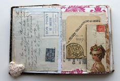besottment by paper relics: sewn-journal