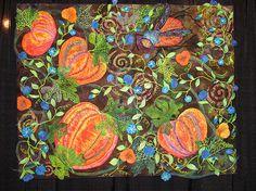 intern quilt, houston quilt, art quilt, halloween quilt, ahhhhmaz quilt, quilt obsess, pumpkin quilt, appliqué quilt, quilt art