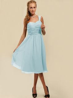 Ruffled Bodice One Shouldered Bridesmaid Dress | Plus and Petite sizes available! Hundreds of styles, tons of colors!