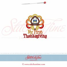 60 Thanksgiving : My First Thanksgiving Turkey Applique 4x4
