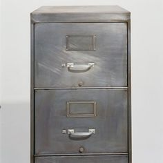 recycled metal file cabinet - another idea.  Take it off - take it all off. filing cabinets, metals, columns, strip metal, diy project, diy idea, metal furniture, metal file cabinet, cs offic
