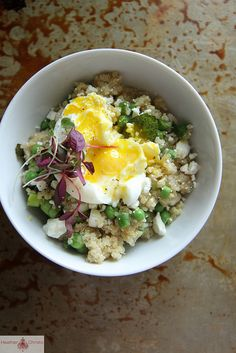 Spring Quinoa Salad with Feta // Heather Christo