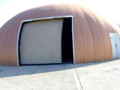 David B. South's Patented Tornado-Proof Hangar Door at MDI