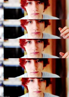red hair + blue eyes = handsome = Charlie McDonnell