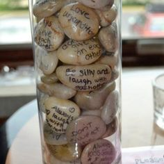 Bridal Shower idea- have everyone there write down one piece of advice and put them all in a vase together!