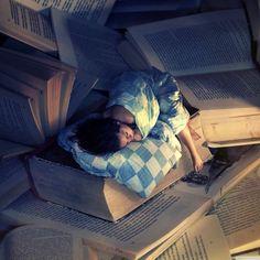 lost myself in books...